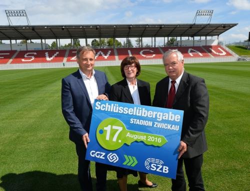 GGZ übergibt neues Zwickauer Fußballstadion an Betreibergesellschaft